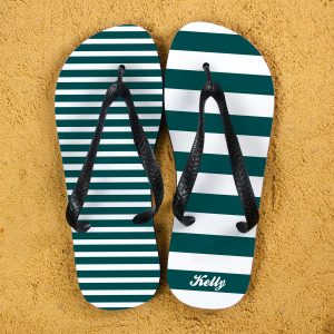 Flip Flops Personalized - Nautical, Mis-Matched and Custom Printed