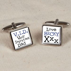Personalised Daddy Cufflinks - Very Important Dad Cufflinks