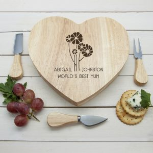 Personalised Cheese Board Set - Especially for Mums