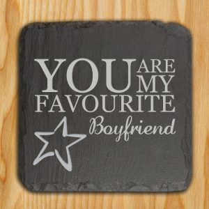 "Favourite Slate Keepsake - Personalised ""You Are My Favourite"" Token"