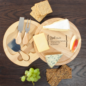 Personalised Cheese Serving Set - Engraved with Name & 3 Definitions