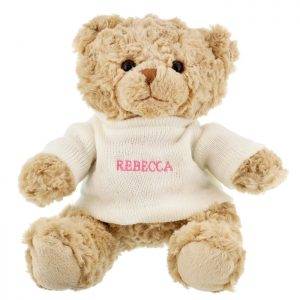 Personalised Teddy Bear Name Only - Pink