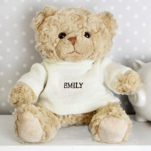Personalised Teddy Bear with Jumper - Cute and Cuddly with Personalised Name