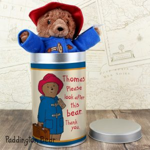 Personalised Paddington Bear in a Tin - Adorable Children's Gift