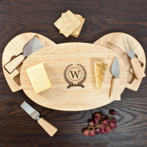 Cheese Board Set - Personalised Board & Knives Set