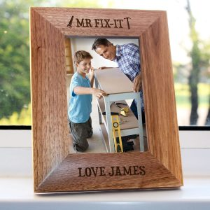 Photo Frames for Dad - Mr Fix It Engraved Photo Frame