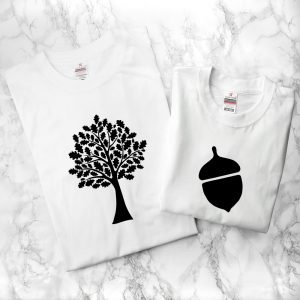 Oak Tree and Acorn Father and Child T Shirt Set