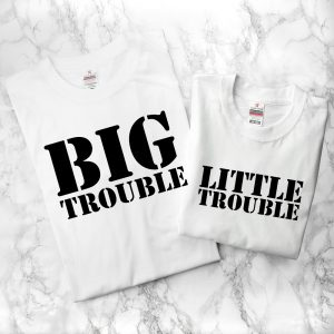Personalised Father Child Trouble T-Shirts