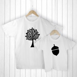 Gifts for Dads from Daughters - Oak Tree and Acorn T-Shirt Set