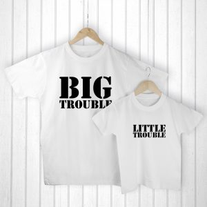 Father and Child T-shirts - Adorable T-Shirt Set & Personalised Bag