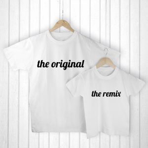 Fathers Gifts from Sons - Original and Remix Matching T-Shirts