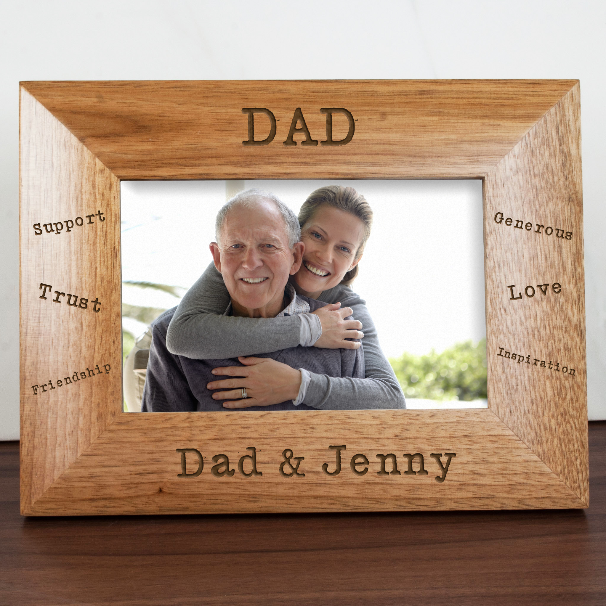 Personalised Frames with Words - Sentiments Dad Engraved Photo Frame