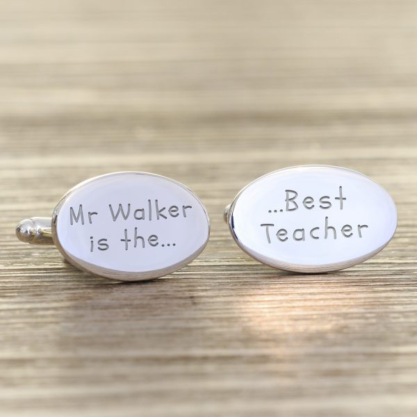 Best Teacher Cufflinks – Quality Silver Plated and Personalised