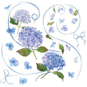 Blank Greeting Card - Refreshing and Original Blue Hydrangea