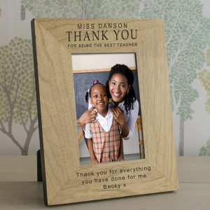 Personalized Teacher Gifts - Wooden Photo Frame for a Special Teacher
