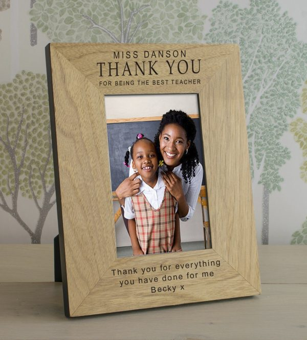 Personalized Teacher Gifts  – Wooden Photo Frame for a Special Teacher