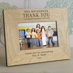 Presents For Teachers - Quality Wooden Personalised Photo Frame