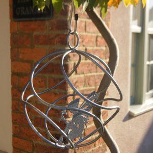 Garden Sphere Ornaments - Silver Tangle Ball Fairy Catcher