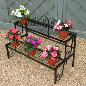 Two Tiered Plant Stand by Poppy Forge