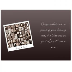 Well Done Card Personalised
