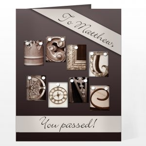 Personalised Well Done Card - Striking Affection Art Just for You