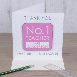 Best Teacher Cards - Personalised Card and Gift Coaster In One