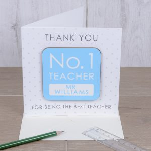 Thank you Card and Coaster for Teachers