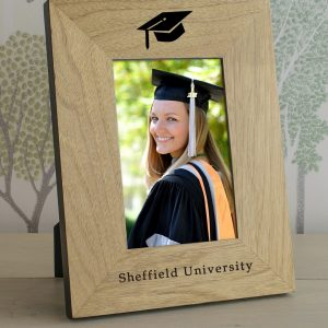 Graduation Picture Frame - Quality Oak Personalised Picture Frame