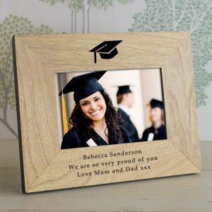 Graduation Photo Frame - Personalised Wooden Frame