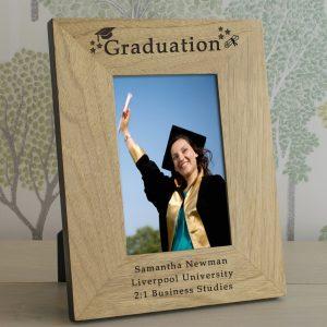 Graduation Photo Frames - Quality Oak Personalised Photo Frame