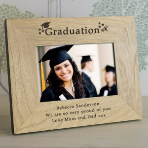 Graduation Picture Frames - Quality Oak Personalised Picture Frame