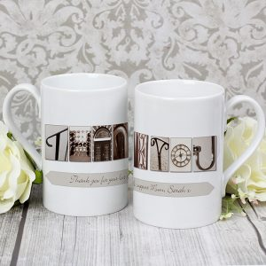 Personalised Thank You Mug - Slim Affection Art Mug