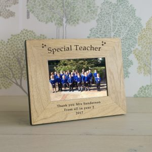 Photo Frames for Teachers - Special Teacher Personalised Wooden Frame