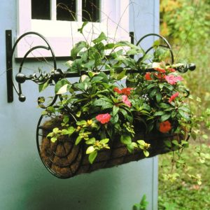 Hanging Planter - Beautifully Ornate Poppy Forge Wall Hanging Planter
