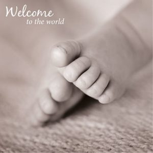 New Baby Greeting Card - Tiny Toes Welcome to the World