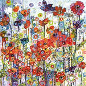 Art Greeting Cards - An Explosion of Colour and Detail by Sally Rich