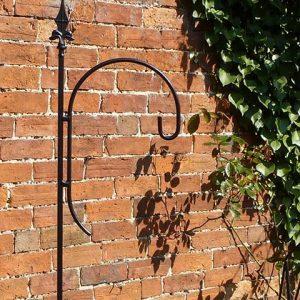 Bird Feeder Hook - Solid Steel Antique Finish Single Crook Pole