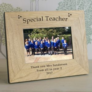 Thank You Teacher Gifts - Special Teacher Personalised Wooden Frame