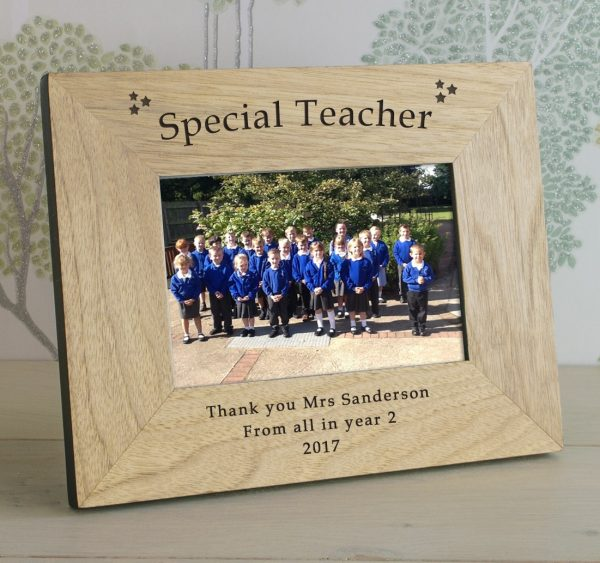 Thank You Teacher Gifts  – Special Teacher Personalised Wooden Frame