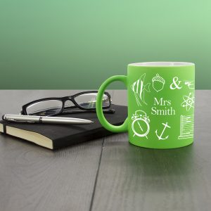Green Personalised Teacher Mugs