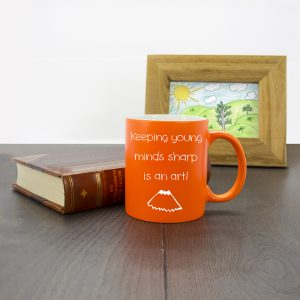 Orange Young Minds Personalised Teachers Mugs