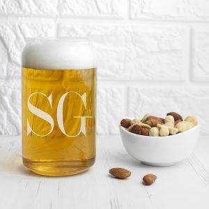 Personalized Beer Glasses - Stylishly Monogrammed Beer Glass