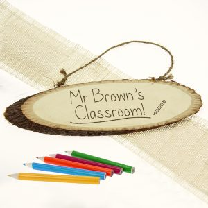 Personalised Classroom Sign - Best Teacher Presents
