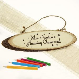 Amaing Teacher Personalised Wooden Sign