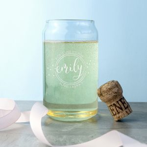Gin Glasses Gift - Engraved Mixer Tumbler Shaped as a Beer Can