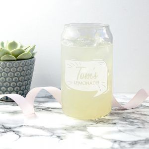 Personalized Drinking Glasses - Personalised Lemonade Can Glass