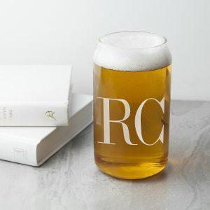 Stylishly Monogrammed Beer Glass