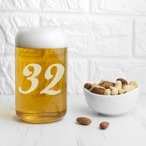 Custom Beer Glasses - Personalised Birthday Can Glass