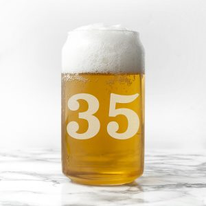 - Personalised Birthday Can Glass