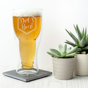 Unique Beer Glasses - Personalised Bottoms Up Beer Glass